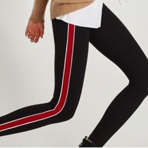 Zara Striped Panel Leggings XS